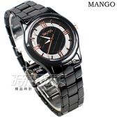 (活動價) MANGO 自信 完美 羅馬陶瓷錶 鏤空 格紋 黑陶瓷x玫瑰金色 女錶 防水 MA6747L-BK