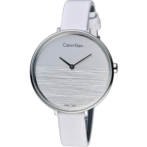 ck Calvin Klein K7A rise 晨曦系列 時尚腕錶 K7A231L6 白