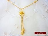 9999純金 黃金項鍊 小甜蜜 小花 小套鍊 情人節 生日禮 送禮 自用