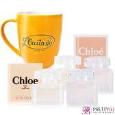 Chloe 同名&白玫瑰 5ML 經典香水隨身組 + 復古馬克杯【美麗購】