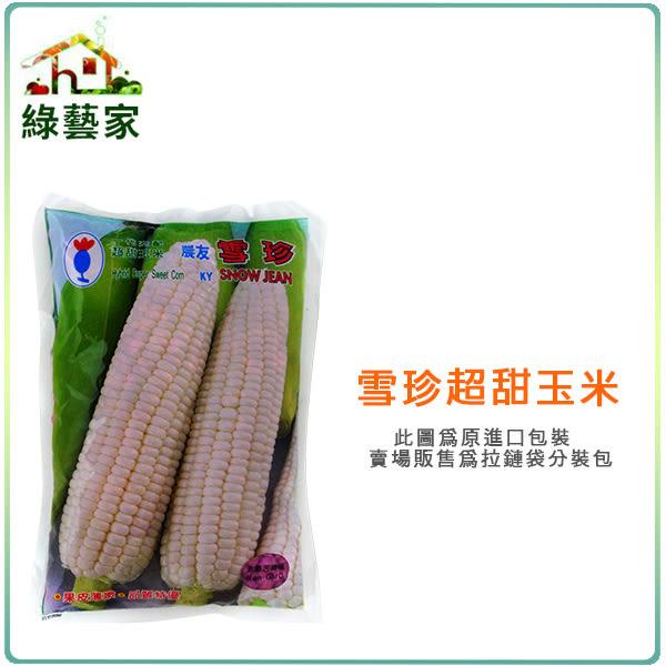 【綠藝家】G85.雪珍超甜玉米(純白色)種子20顆