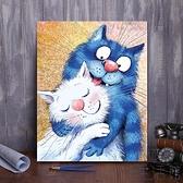 diy數字油畫卡通手工填色減壓畫手繪油彩畫裝飾畫【極簡生活】