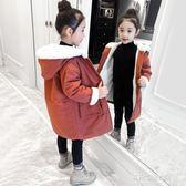 棉襖外套女童冬裝外套棉衣加厚新款寶寶洋氣中長款棉服兒童裝女孩棉襖多莉絲旗艦店