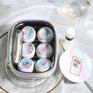 腔調酷酷skr隱形近視眼鏡盒鐳射隱形盒 美瞳伴侶盒化妝包3副裝