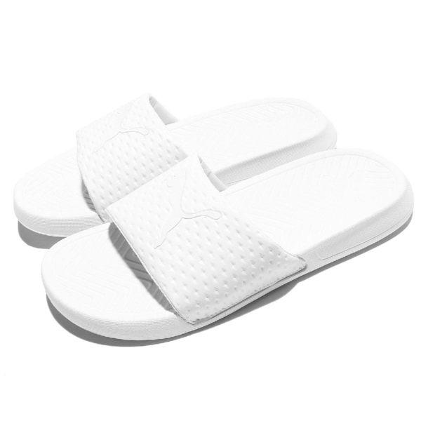 Puma 拖鞋 Popcat Premium 白 全白 基本款 高級版本 男鞋 女鞋【PUMP306】 36245801
