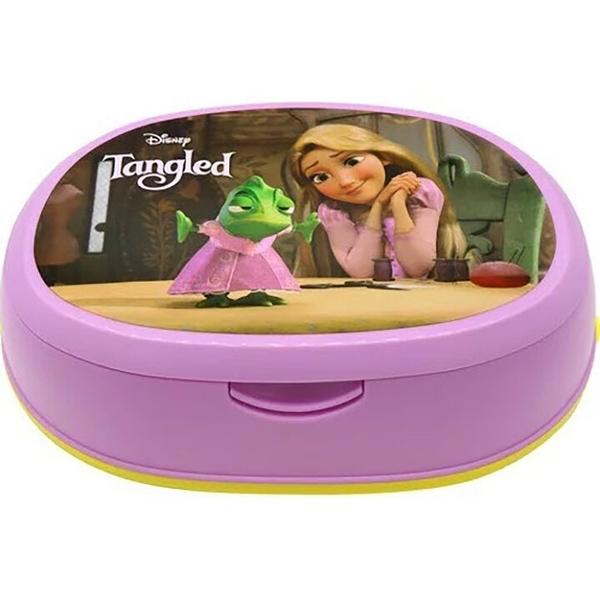 小禮堂 迪士尼 長髮公主 橢圓形濕紙巾盒 抽取式紙巾盒 面紙盒 口罩盒 (紫 朋友) 4903320-48360