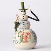 《Enesco精品雕塑》迪士尼聖誕夜驚魂傑克雪人塑像-Christmas Surprise★funbox生活用品★_EN84887