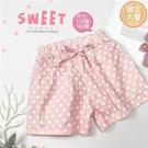 (大童款-女)甜美水玉點點綁結彈性短褲(310530)【水娃娃時尚童裝】
