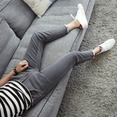 牛仔褲 夏季彈力9九分牛仔褲男士韓版修身青少年小腳褲潮男裝薄款男褲子 萬寶屋