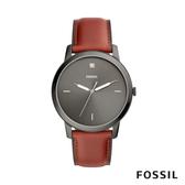 FOSSIL MINIMALIST 簡約設計中性錶-黑底紅錶帶 44mm FS5479
