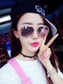 太陽鏡 日韓 墨鏡女韓版粉色太陽鏡 百搭 降價兩天