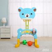 籃球架可升降室內男孩女孩玩具1-6周歲家用球類投籃架子 檸檬衣舎