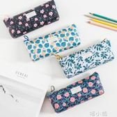 筆袋文具袋簡約帆布可愛動物拉錬筆盒 喵小姐