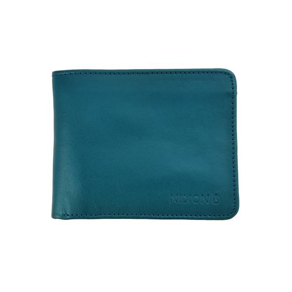 NIXON STEALTH BI-FOLD 潮流時尚短夾-藍綠色