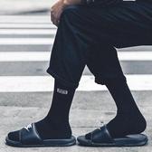黑色長襪男高幫襪子女ins潮流街頭夏季薄款白色中筒襪長筒襪韓版