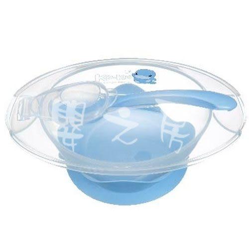 【嬰之房】KUKU酷咕鴨 寶寶止翻吸盤碗(藍)