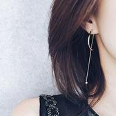 耳環 極簡設計 金屬 弧形 氣質 耳環【TSBF457】 icoca  02/09