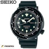 SEIKO 鮪魚罐200米防水全黑膠帶潛水錶・SBBN035J・7C46-0AG0D・公司貨|名人鐘錶高雄門市
