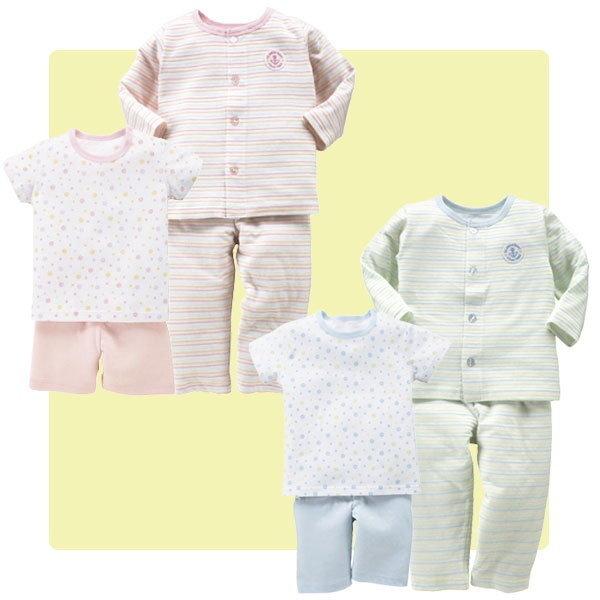 日本純棉睡衣 居家童裝 春夏季寶寶 短袖上衣+短褲二件套裝70/80/90/95碼【HB0015】