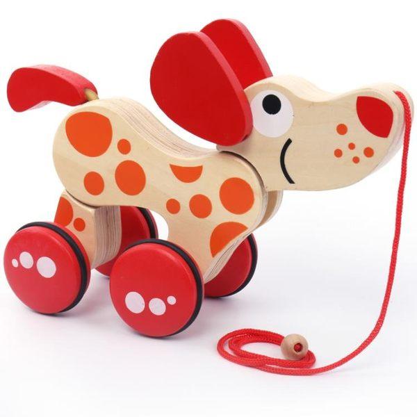 嬰兒步行學步車兒童小拉車玩具推學步車小狗拉線車鱷魚 交換禮物