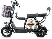 電動車迷你折疊電動自行車小型滑板車男女代步親子電瓶車歐亞