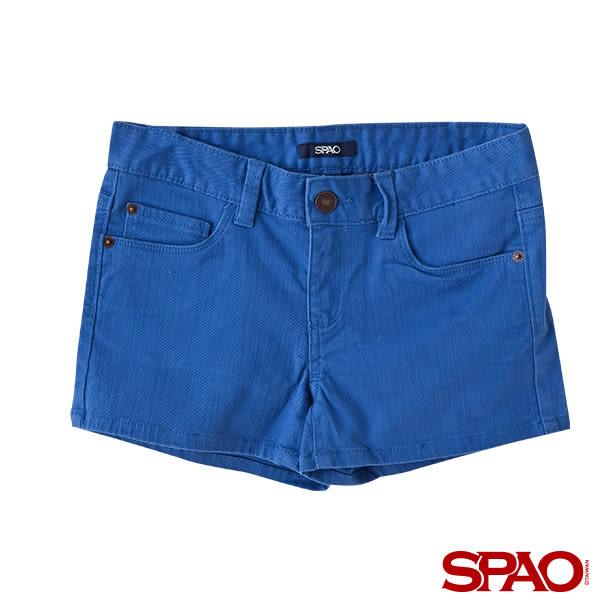 韓國品牌/SPAO女款休閒純色單寧短褲-共5色