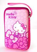 Hello Kitty SKE-356 彈力膠數位硬碟包-蝴蝶結粉