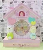 【震撼精品百貨】角落生物 Sumikko Gurashi~SAN-X 掛鐘~房子紫*10537