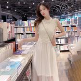 出清$388 韓國風名媛蕾絲拼接網紗淑女套裝無袖裙裝
