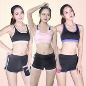 運動套裝 2018新款夏季瑜伽服兩件套裝 健身服健身房跑步速干短褲
