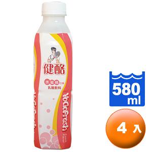 ●健酪乳酸飲料水蜜桃580ml-4瓶【合迷雅好物超級商城】