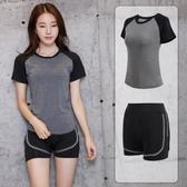 【免運】瑜伽運動服正韓 新款兩件套瑜伽服套裝 運動健身房晨跑步服寬鬆速干
