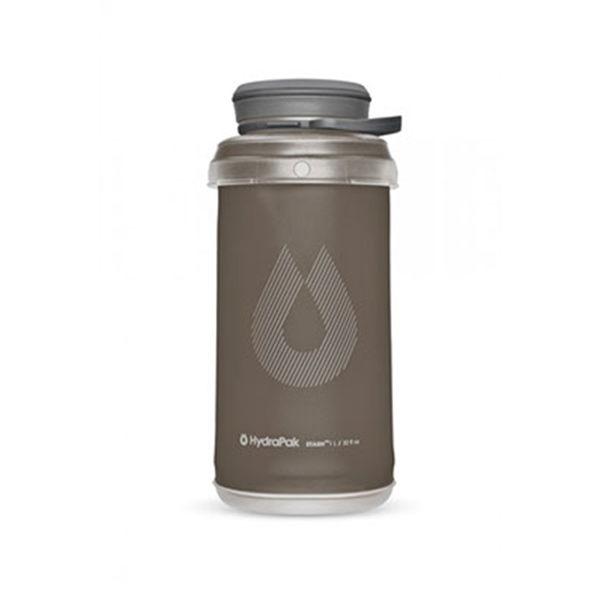 HydraPak Stash Bottle 可擠壓式圓盤軟式水壺 1L 灰