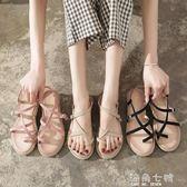 夾腳涼鞋涼鞋女夏季夾腳防滑仙女風海邊度假百搭夾趾平底沙灘羅馬鞋ins潮 海角七號