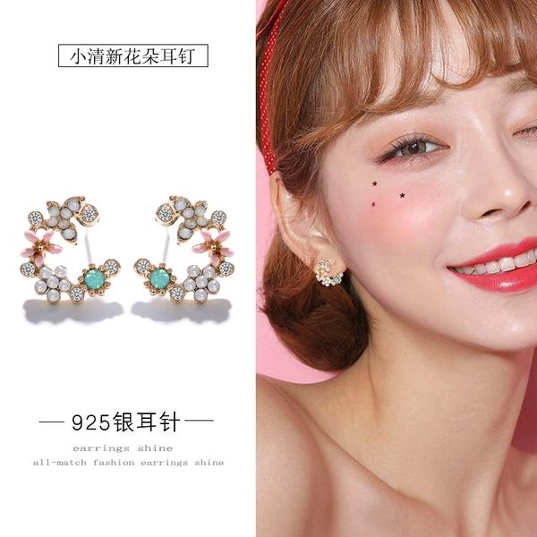 【免運到手價$98】日韓甜美溫柔氣質花朵耳環ins少女心唯美花瓣耳釘網紅耳飾