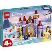 樂高積木 LEGO《 LT43180 》迪士尼公主系列 - 貝兒的城堡冬季慶典 / JOYBUS玩具百貨