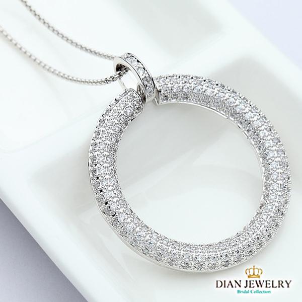 【DIAN 黛恩珠寶】簡約圓滿 造型CZ鑽項鍊(TM62231)