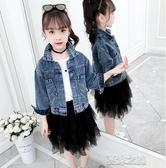 女童牛仔外套-女童牛仔外套秋裝新款韓版兒童洋氣短款中大童春秋童裝夾克潮 夏沫之戀