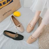 低跟鞋媽媽鞋舒適低跟婦女軟底皮鞋2020春秋方頭女士單鞋平底休閒工作鞋 衣間迷你屋