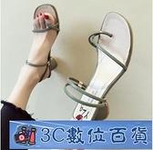 夾腳涼鞋2021新款仙女風粗跟一鞋兩穿拖鞋時尚百搭高跟簡約涼拖鞋 3C數位百貨
