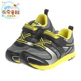 《布布童鞋》Moonstar日本TSUKIHOSHI天然兒茶素鞋墊黑黃色機能運動鞋(15~19公分) [ I7H0A6D ] 黑黃款