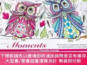 二手書博民逛書店Coloring Craft罕見Book Inspiring Moments 色彩 工藝書籍塗色書Y19139