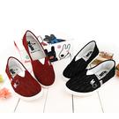 童鞋城堡-麗莎與卡斯伯 親子款 低調質感休閒鞋-GL7629 黑/紅(二色)