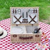 戶外野餐籃保溫柳編織籃子藤編收納手提籃帶蓋 完美計畫