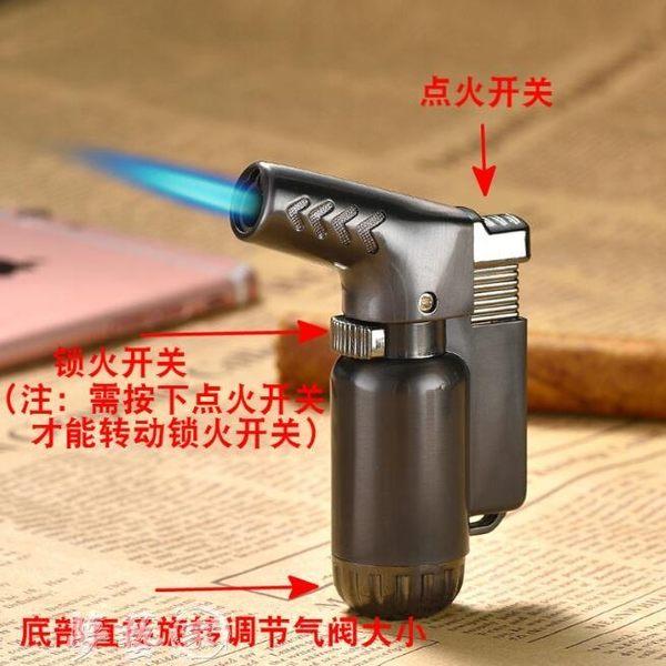 點煙器 創意充氣雪茄打火機耐高溫焊槍個性防風點煙器直沖噴槍 夢藝家