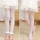 女童絲襪夏季薄款連褲襪防勾絲兔子中大童白色舞蹈襪寶寶防蚊襪 快速出貨