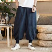 闊腿燈籠褲 秋男加大碼哈倫寬鬆中國風九分褲燈籠褲 BF12779【旅行者】