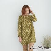 【Tiara Tiara】森林系滿版松鼠純棉洋裝(綠)