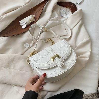 馬鞍包 小眾設計包包女包2020新款潮網紅百搭ins斜背包高級感時尚馬鞍包