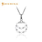 天然珍珠  925純銀項鍊 鑲晶鑽「海洋之星」銀飾禮品/情人禮物
